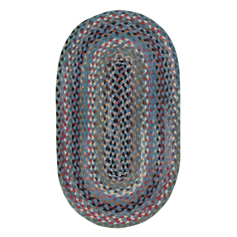 Capel St. Johnsbury 0440 Braided Rug - Medium Blue