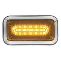 CODE 3 3712ABZ-75 Perimeter Light,LED,Amber,Surf,Rect,9 L