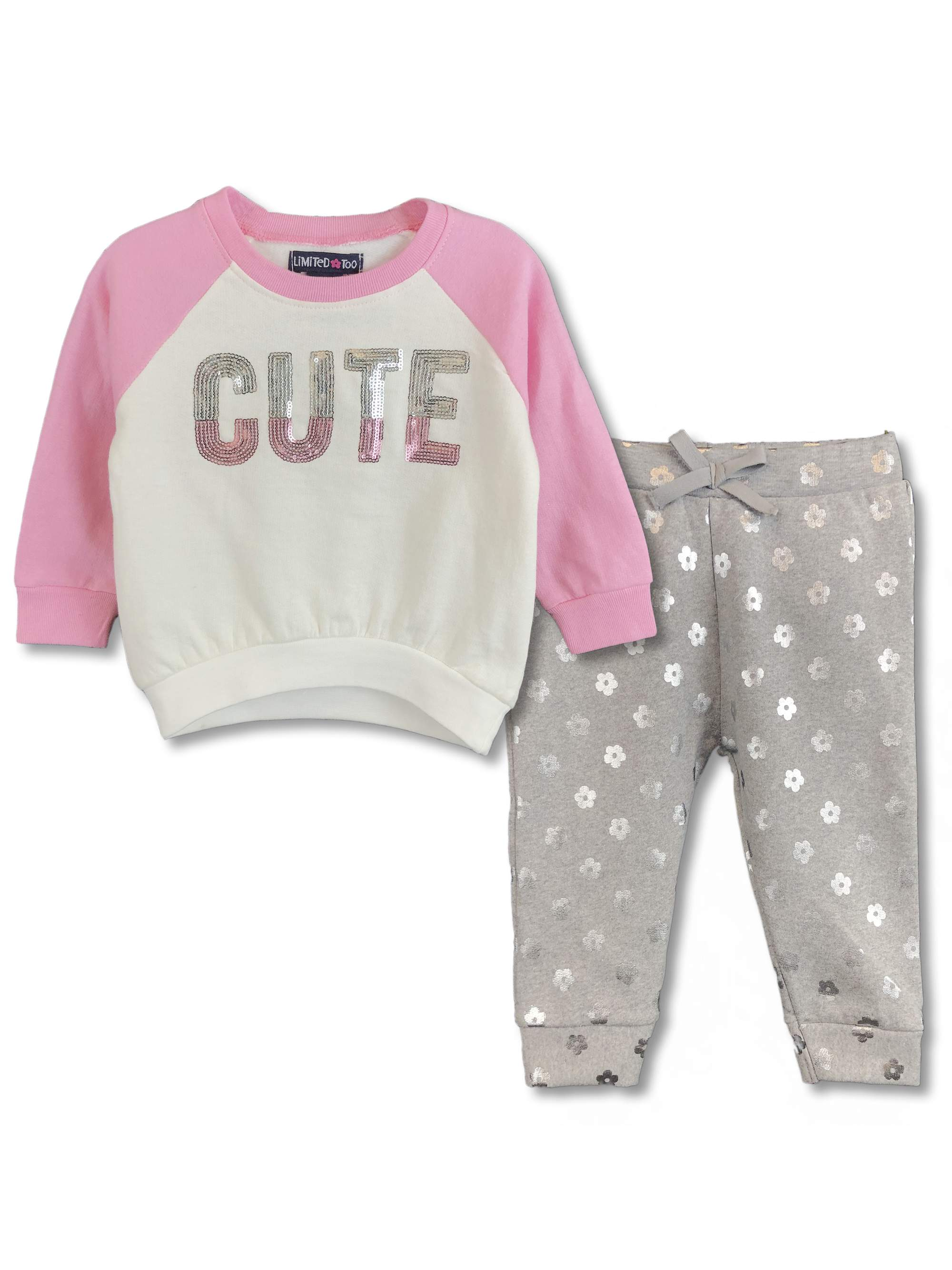 12 Infant /& Toddler Girls Limited Too $40-$42 2pc Shirt /& Jeans Sets Size 3//6m