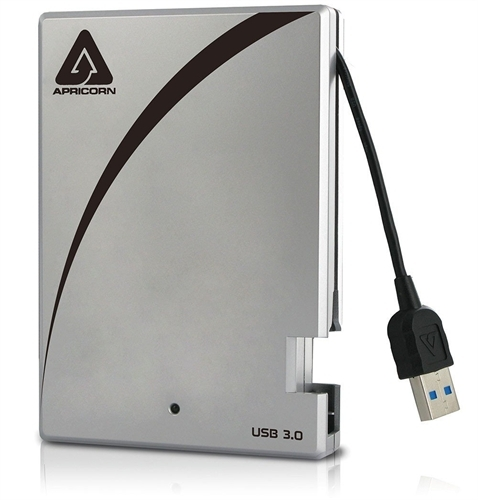 "Apricorn Aegis Portable 500 GB 2.5"" External Hard Drive A25-3USB-500"