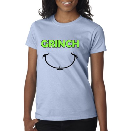 New Way 605 - Women's T-Shirt Grinch Smile Christmas Face - Toddler Grinch Shirt