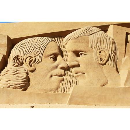 Framed Art for Your Wall Sand Beach Festival Sculpture Artwork 10x13 Frame