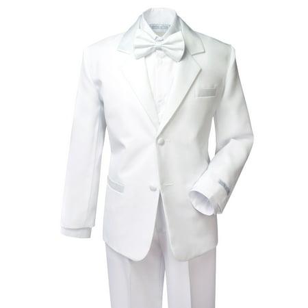 Spring Notion Boys' Classic Fit Tuxedo Set White