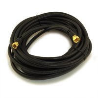 20ft RG6 QUAD SHIELD Black HI-BANDWIDTH Coax Cable F-type Gold Plated