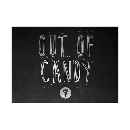 Out Of Candy Print Ghost Picture Chalkboard Design Halloween Seasonal Decoration Sign](Chalkboard Font Halloween)