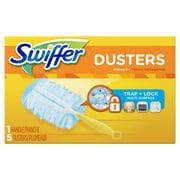Swiffer Duster Short Handle Starter Kit, 1 Handle, 5 Dusters