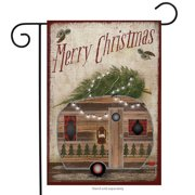 "Merry Christmas Camper Garden Flag Primitive Holiday 12.5"" x 18"" Briarwood Lane"