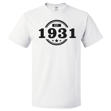 87th Birthday Gift For 87 Year Old Established 1931 T Shirt
