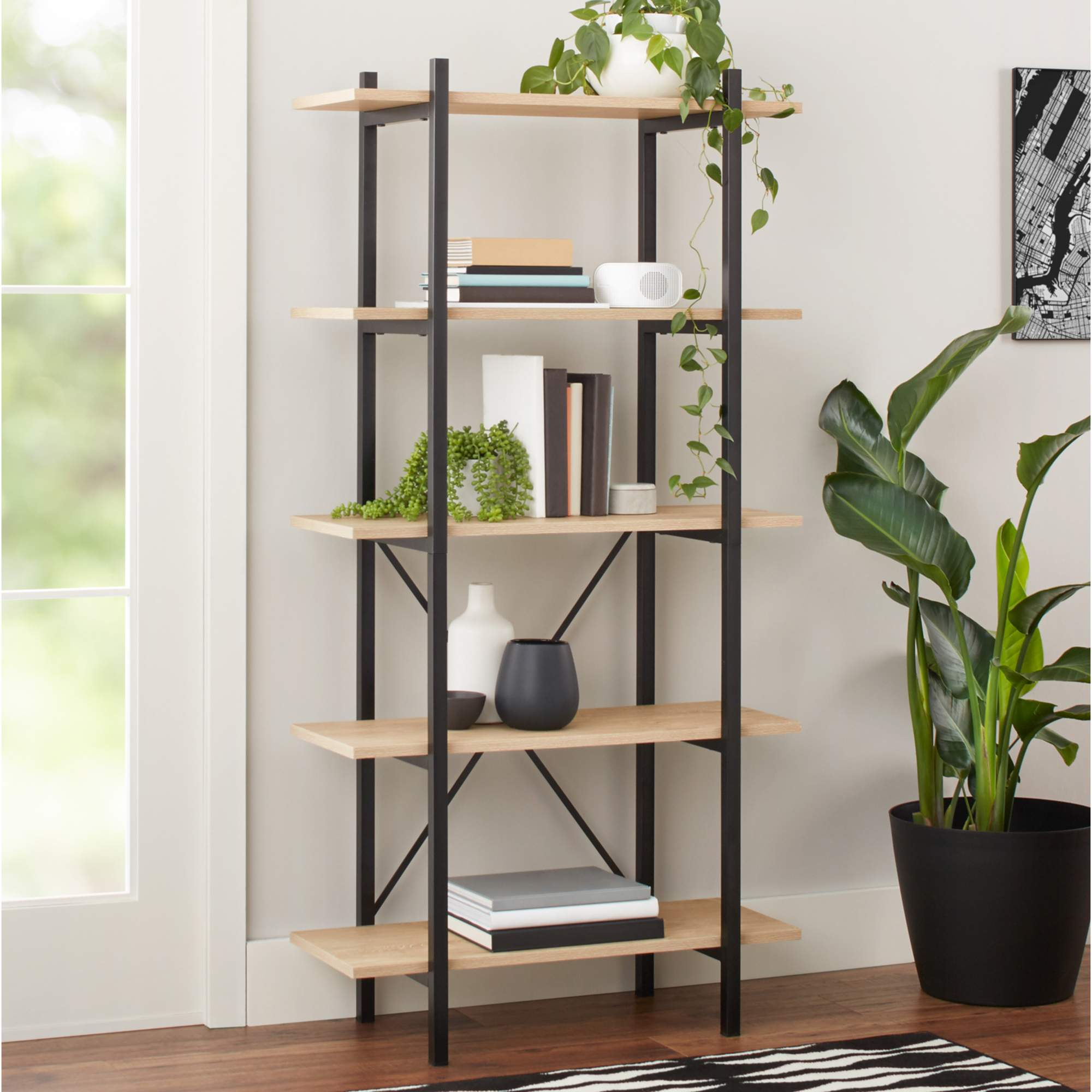 Mainstays Conrad 5 Shelf Bookcase