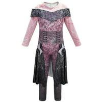 Descendants 3 Audrey Mal Fancy Dress Halloween Cosplay Costume Jumpsuit