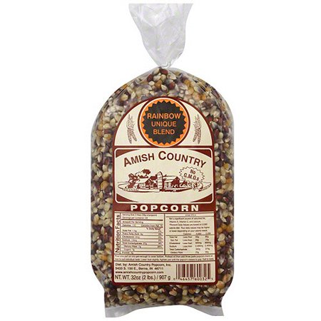 Amish Country Popcorn Unique Rainbow Blend Popcorn, 32 oz (Pack of 8)