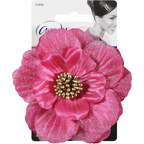Goody FashioNow Fabric Flower Hair Clip, Assorted Colors