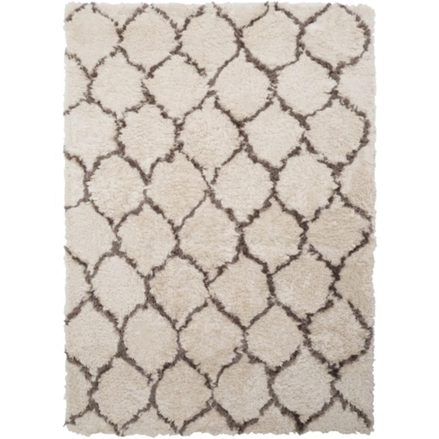 4' x 6' Pebble Path Silver Gray and Walnut Brown Hand Tufted Area Throw Rug