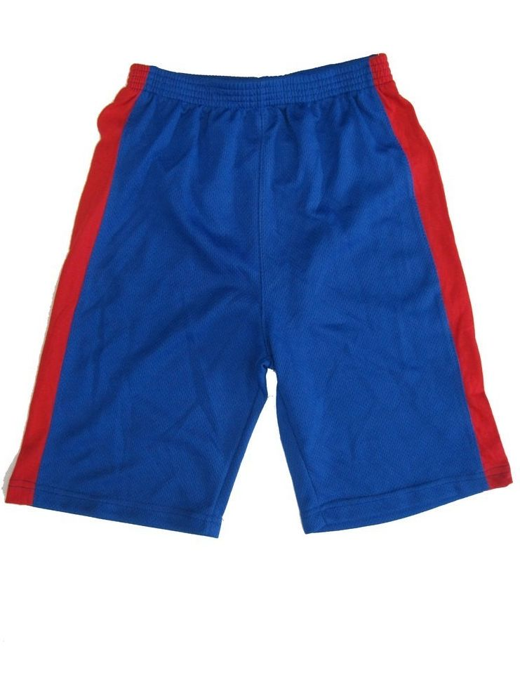 s Little Boys Royal Blue Red Side Stripes Heroes Basketball Shorts 4-7