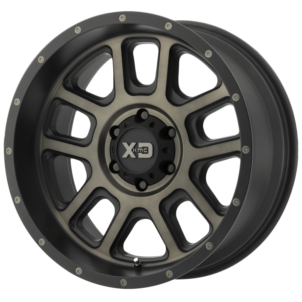 KMC-XD Wheels XD82829080912N XDWXD82829080912N DELTA 20x9 8x165.10 MATTE BLACK W/ DARK TINT CLEAR (-12 mm)