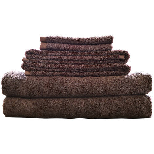 Maxkin Bamboo Fiber 6-Piece Towel Set, Multiple Colors by Generic