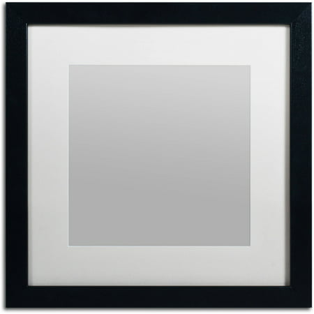 Trademark Fine Art Heavy-Duty 16x16 Black Picture Frame with 11x11 White Mat