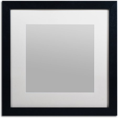 Trademark Fine Art Heavy Duty 16x16 Black Picture Frame With 11x11