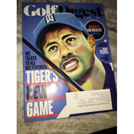 GOLF DIGEST Magazine February 2019 Tiger Woods ~ Tiger's New Game - Golf Digest Magazine
