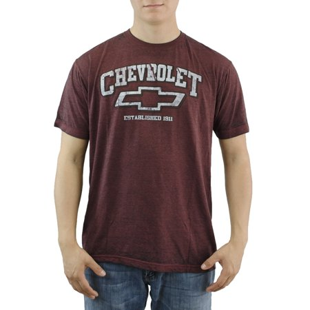 General Motors Chevrolet Mens Burgundy T Shirt New Sizes S 2Xl