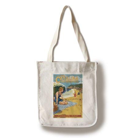 - Catalina Island, California - Avalon Bay Scene - Lantern Press Poster (100% Cotton Tote Bag - Reusable)