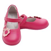 Fuchsia Double Daisy Strap Sandal Shoes Toddler Little Girls 5-2