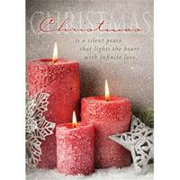 Card-Boxed-Silent Peace Christmas (1 John 4:12 NIV) (Box Of 12) (Sep)