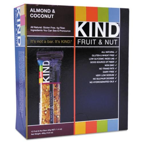17828 Fruit And Nut Bar, Almond/coconut, 1.4 Oz, 12/box
