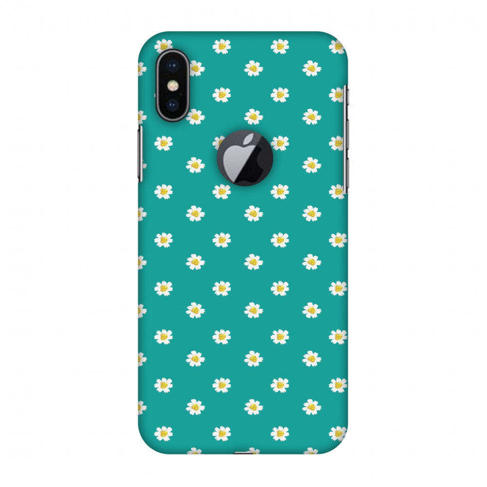 iPhone X Case - Daisies, Hard Plastic Back Cover. Slim Profile Cute Printed Designer Snap on Case with Screen Cleaning Kit