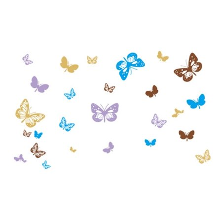 Living Room Decor Butterfly Pattern Removable Wall Sticker Wall Sticker Decal - image 1 of 3