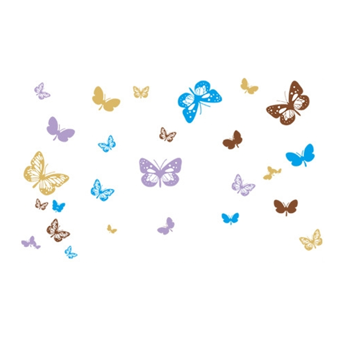 Living Room Decor Butterfly Pattern Removable Wall Sticker Wallpaper Decal
