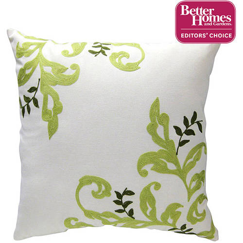 """Better Homes and Gardens Citrus Scroll 18""""x18"""" Decorative Pillow"""