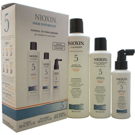 Nioxin Hair System Kit 5 Cleanser 10oz , Therapy 5oz and Treatment 3.3oz (Small)