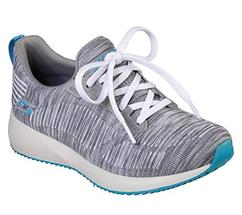 Skechers Bobs Sport Squad Sizzle Womens Sneakers Gray Turquoise 9 by Skechers