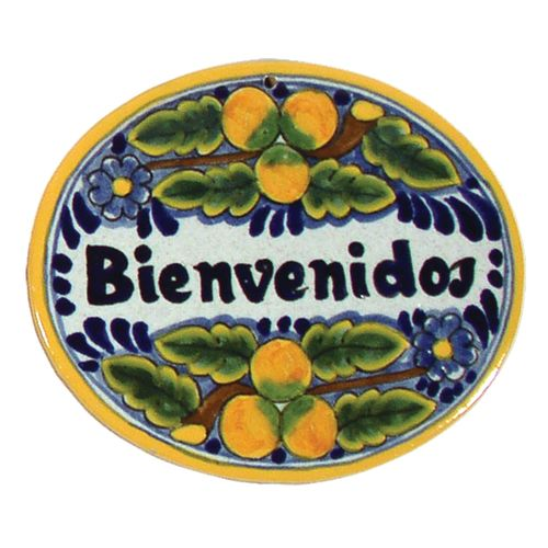 Native Trails TVR6720 Small 'Bienvenidos' Hand Painted Plaque