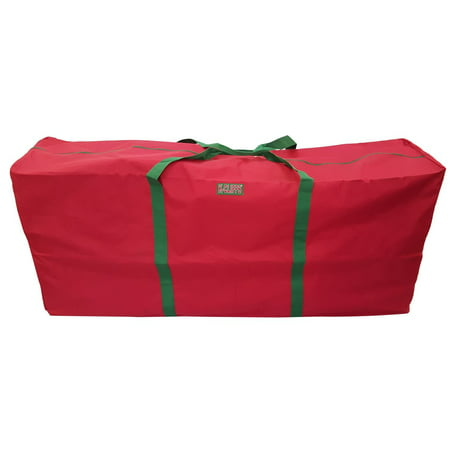 Christmas Tree Storage Bag.Heavy Duty Christmas Tree Storage Bag Fit Upto 6 Foot Artificial Tree Holiday Red Extra Large 48 X15 X20