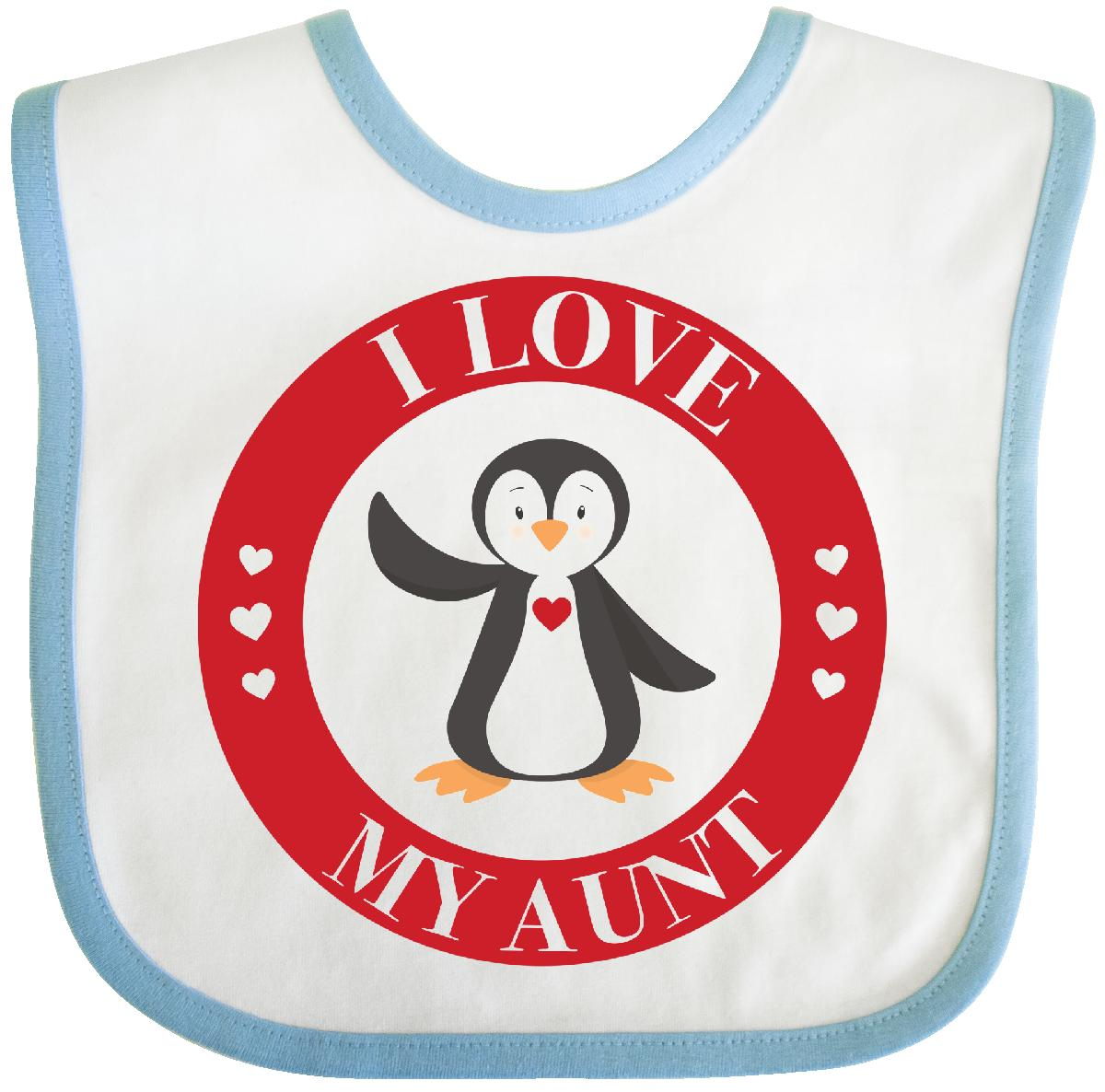 Inktastic I Love My Aunt Baby Bib penguin hearts gift valentines day clothing infant