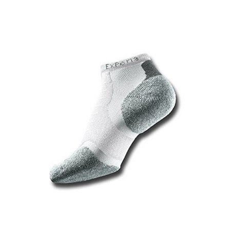 Thorlo Men's Experia CoolMax Micro  Mini Crew Sock, White/White, -
