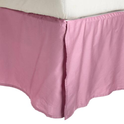 Wrinkle Resistant Solid Bedskirt King - Pink