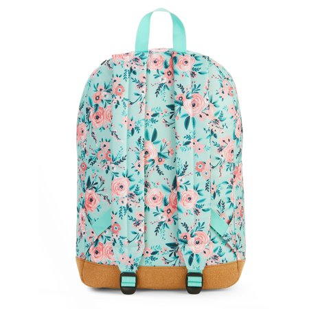 No Boundaries Mint Floral Backpack