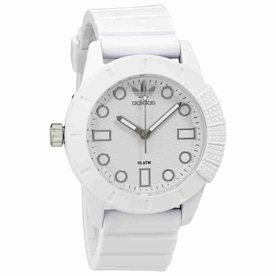 Adidas Originals White Dial White Silicone Mens Watch ADH3102 by Adidas