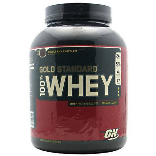 Optimum Nutrition 100% Whey, Double Rich Chocolate, 5 LB