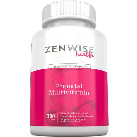 Les vitamines prénatales - multivitamines avec acide folique, Probiotiques, et de la vitamine A Biotine & C - Supplément optimale des femmes pour une grossesse en santé - cerveau, les os, immunitaire et cardiaque soutien - 300 comprimés Count