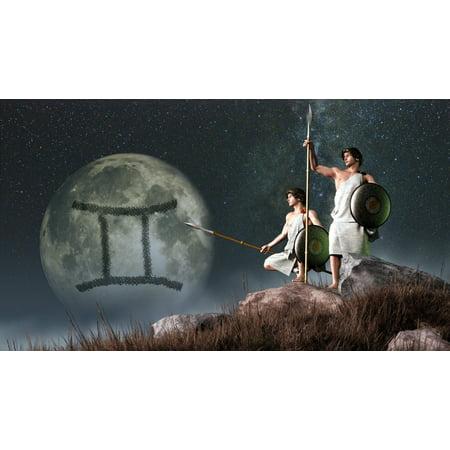 Gemini Is The Third Astrological Sign Of The Zodiac Canvas Art   Daniel Eskridgestocktrek Images  19 X 11