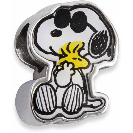 a3c49a95f Connections from Hallmark - Peanuts Stainless Steel Snoopy Charm ...