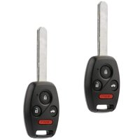 Fits 2008 2009 2010 2011 2012 Honda Accord Coupe 4-Button Key Fob Keyless Entry Remote (MLBHLIK-1T),Pack of 2
