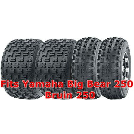 - 22x7-10 & 22x10-10 Complete Set Yamaha Big Bear 250 Bruin 250 Sport ATV Tires