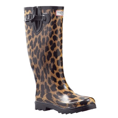 Women Rubber Rain Boots with Cotton Lining,