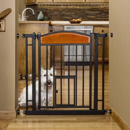 Carlson Home Decor Auto-Close Walk-Through Pet Gate