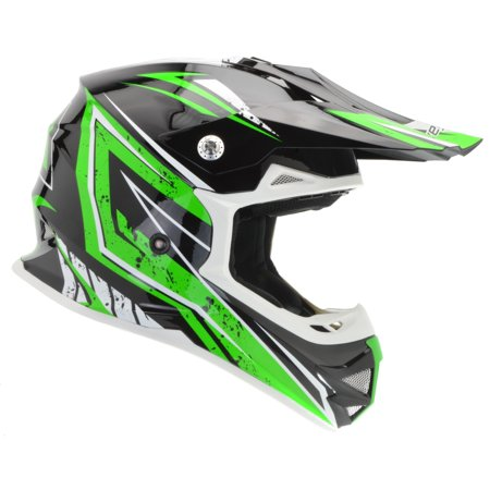 Vega Helmets MIGHTY X2 Kids Youth Dirt Bike Helmet – Motocross Full Face Helmet for Off-Road ATV MX Enduro Quad Sport